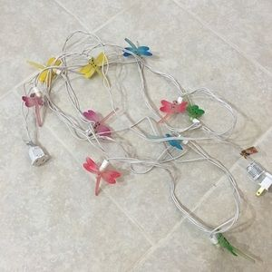 10 Dragonfly String Lights Rainbow Colors Cute!